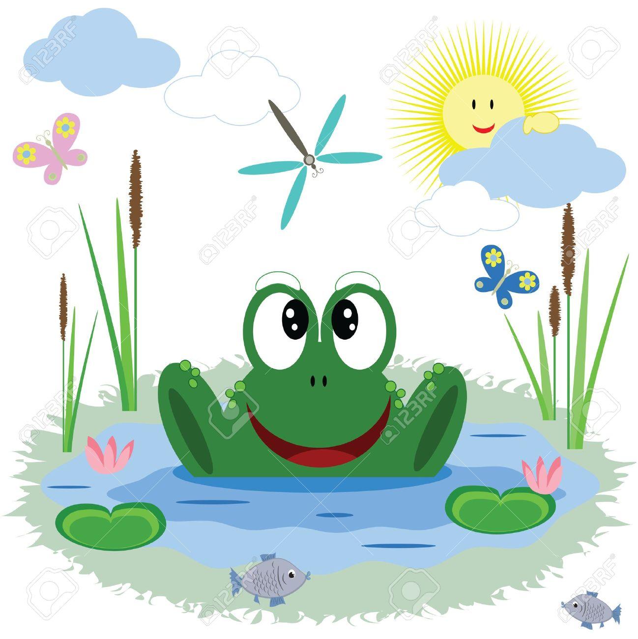 Frog pond clipart svg library stock Frog pond clipart 9 » Clipart Station svg library stock