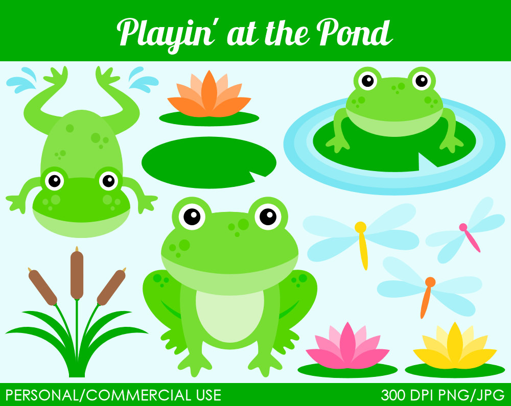 Frog pond clipart picture royalty free library Frog Pond Clipart - Clip Art Library picture royalty free library