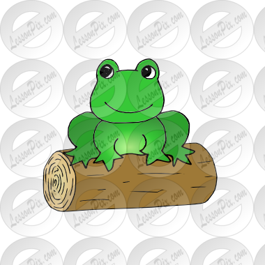 Frog on a log clipart clip free download frog log Picture for Classroom / Therapy Use - Great frog log Clipart clip free download