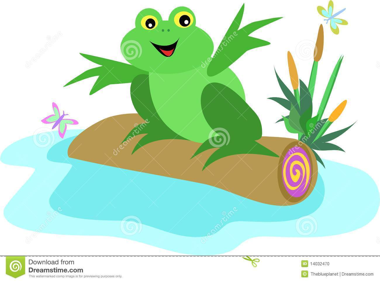 Frog on a log clipart clip freeuse Frog on a log clipart 6 » Clipart Portal clip freeuse
