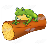 Frog on a log clipart clip freeuse library Frog on a Log clip freeuse library