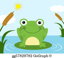 Frog pond clipart clip free library Frog Pond Clip Art - Royalty Free - GoGraph clip free library