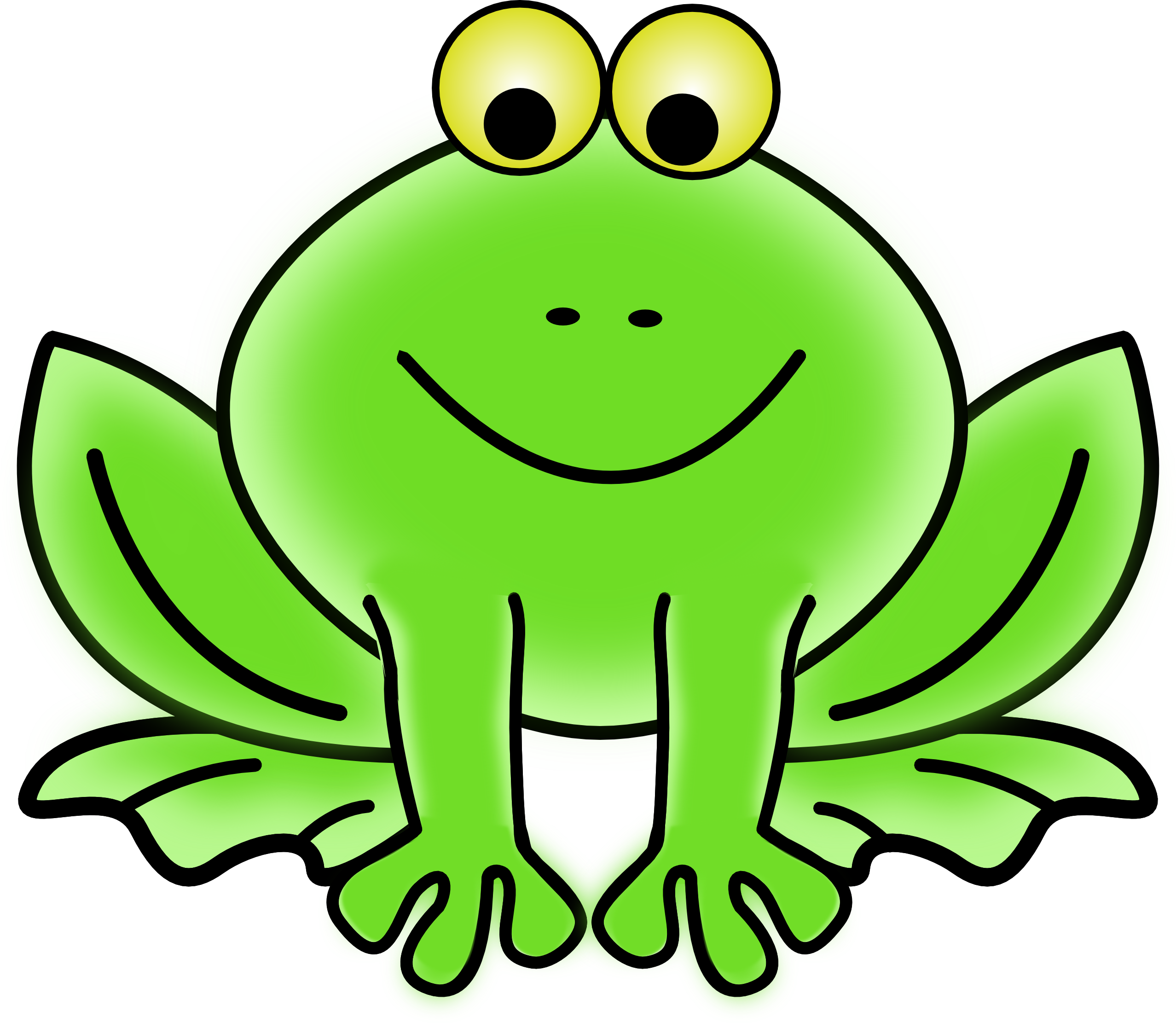 Thanksgiving frog clipart