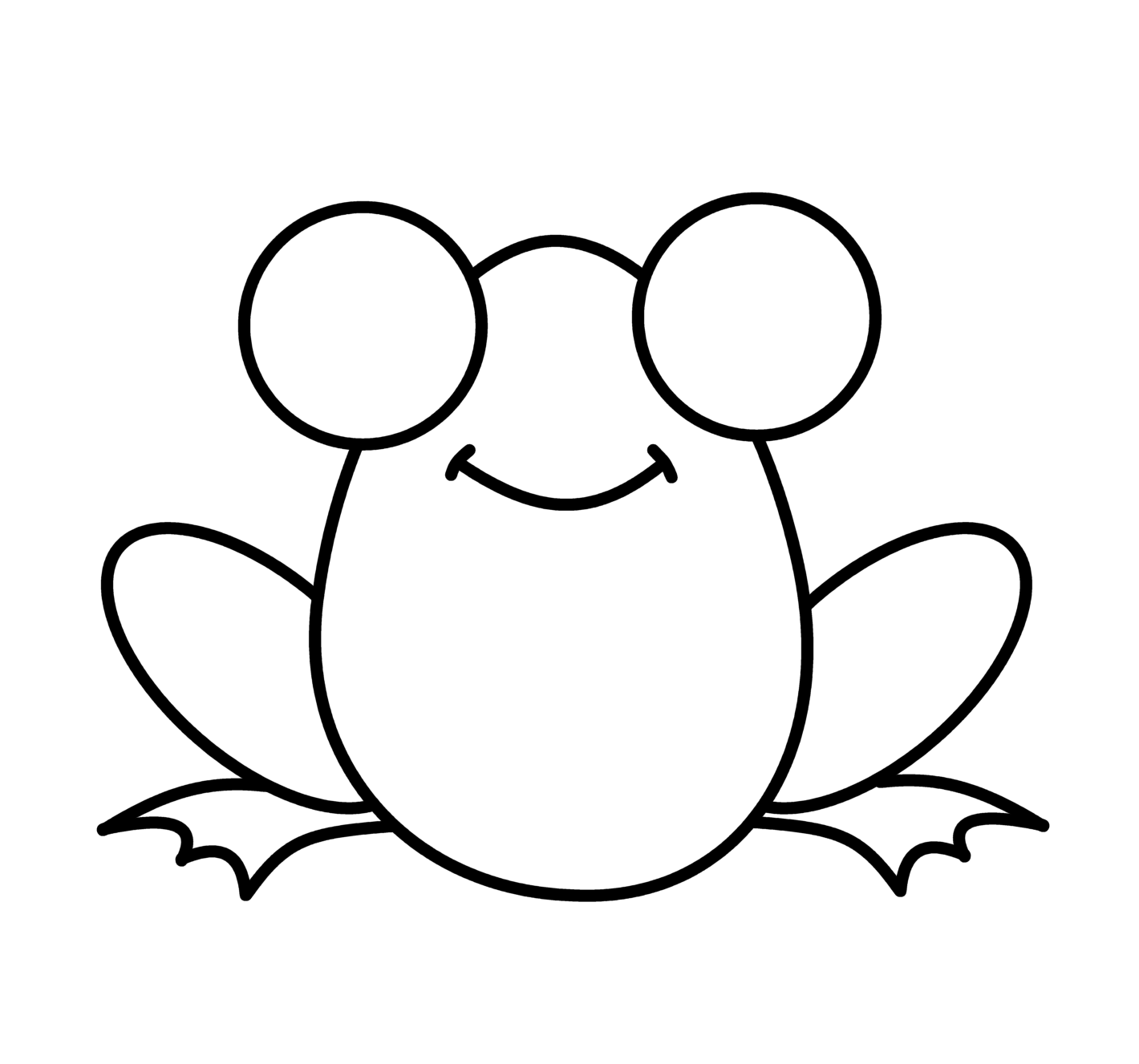 Frog start and finish line clipart vector royalty free download How To Draw Cartoons: Frog | Simple drawings | Frog drawing, Easy ... vector royalty free download