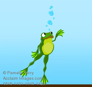 Frog swimming clipart graphic free library Clip Art Illustration of a Cartoon Frog Swimming Under Water graphic free library