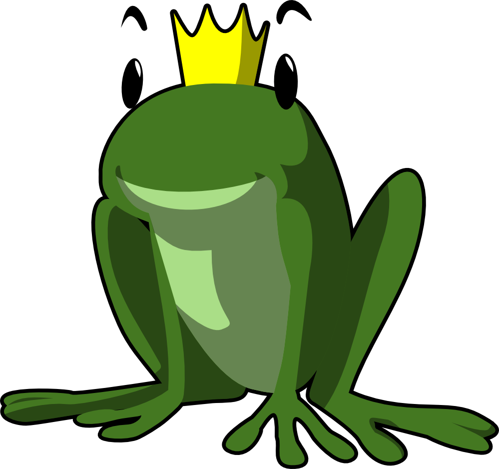 Frog with crown black white clipart jpg transparent library clipartist.net » Frog Prince jpg transparent library