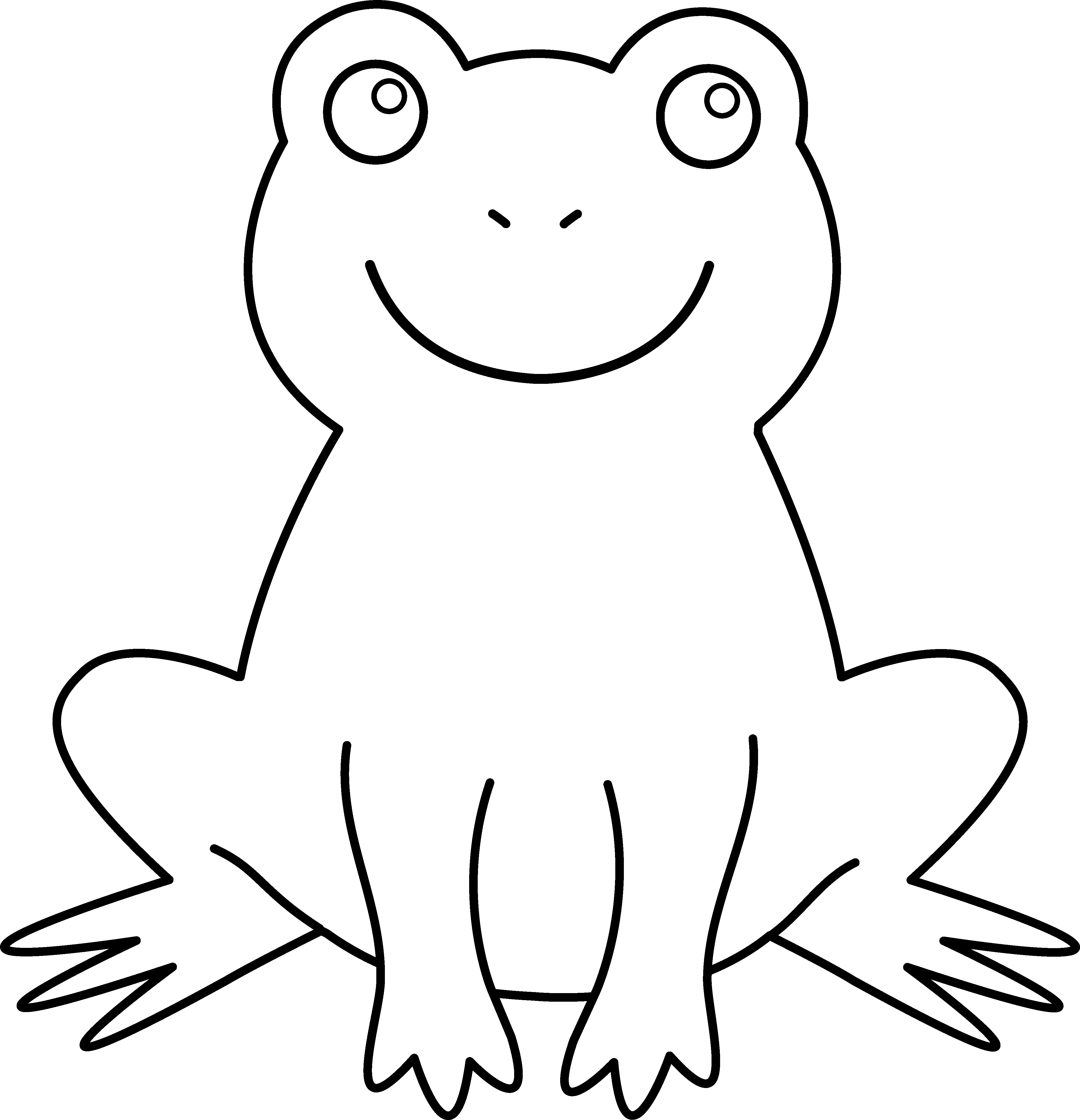 Frog with crown black white clipart banner library download Black and White Frog | for Newsletter | Pinterest | Frogs, Cricut ... banner library download