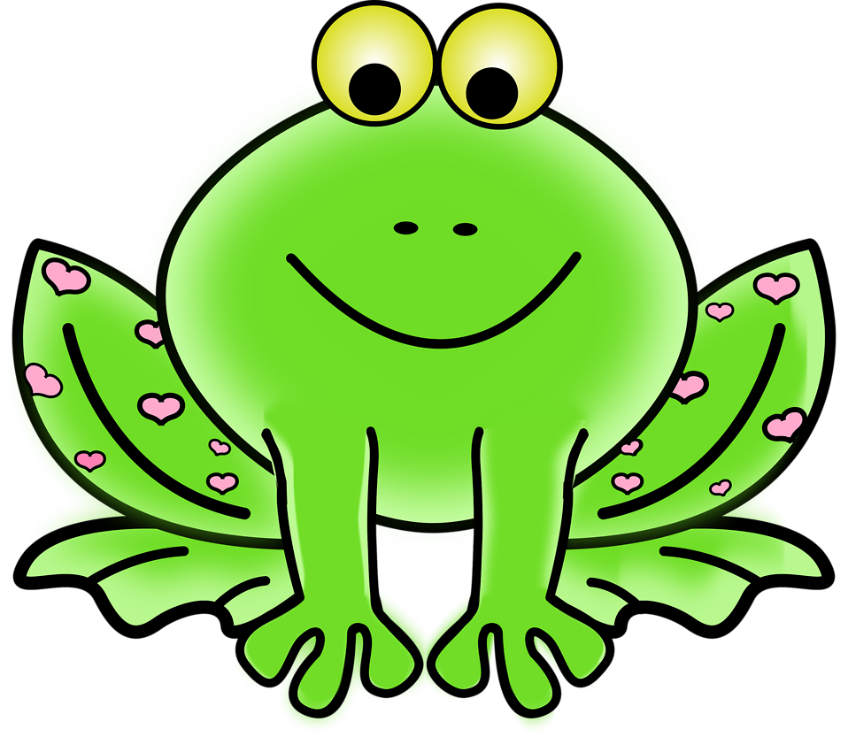 Frog with crown black white clipart picture black and white library Frog | Free Stock Photo | Illustration of a cartoon frog | # 16125 picture black and white library