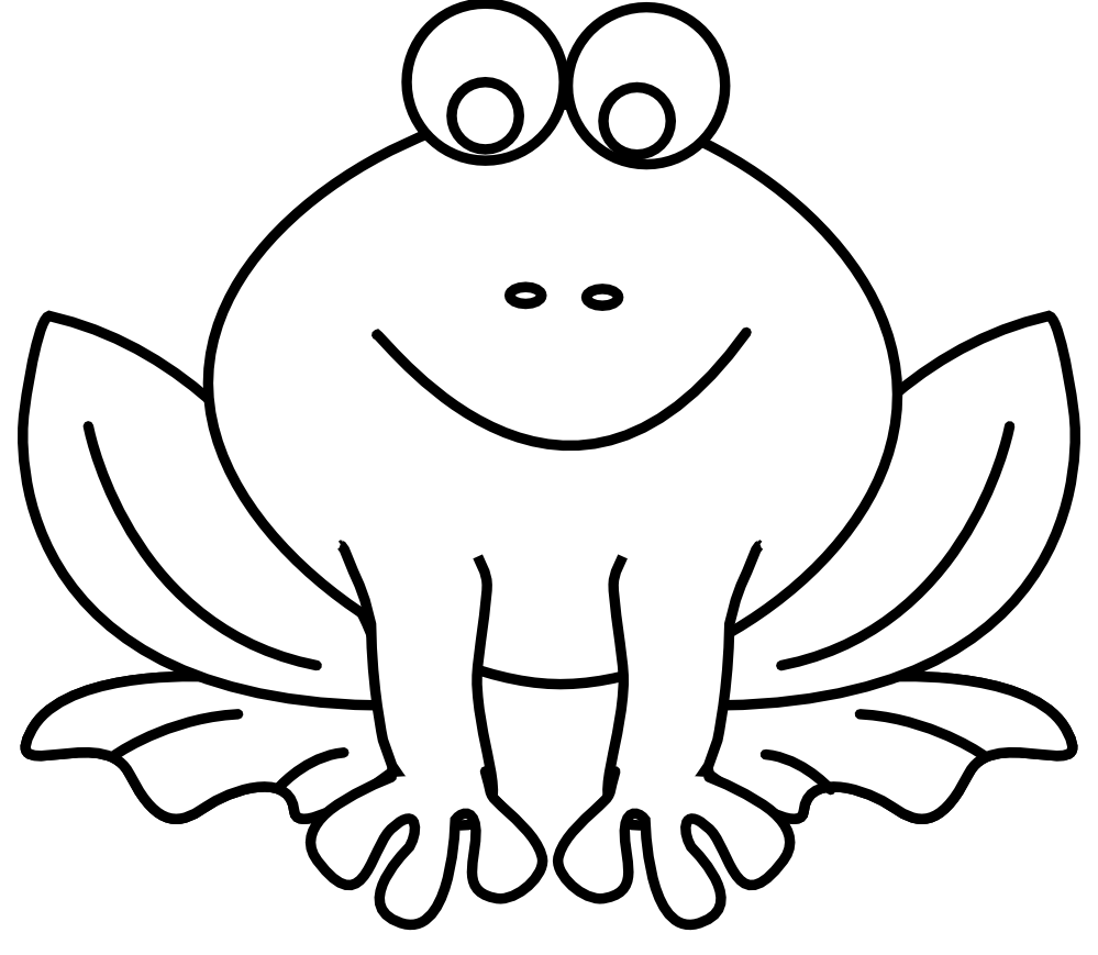 Frog with crown black white clipart clip art free stock Frog On A Log Clip Art Black And White | Clipart Panda - Free ... clip art free stock