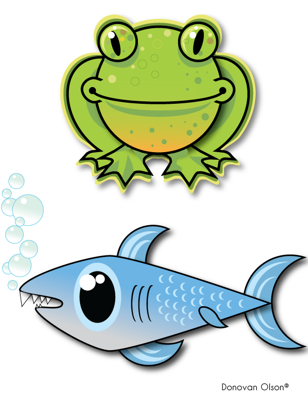 Frogs basketball clipart