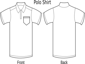 Front and back clipart royalty free Polo Shirt Front And Back Clip | Clipart Panda - Free Clipart Images royalty free
