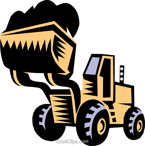 Clipart front end loader clip free stock heavy equipment/front end loader Royalty Free Vector Clip Art ... clip free stock