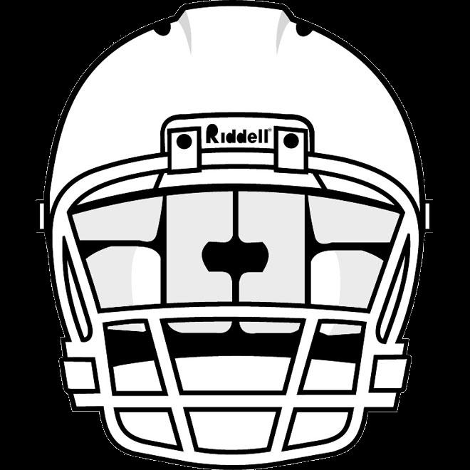 Front helmet outline clipart