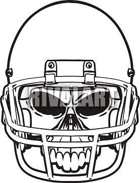 Front helmet outline clipart clipart black and white library Football Helmet Front Vector | Clipart Panda - Free Clipart Images ... clipart black and white library