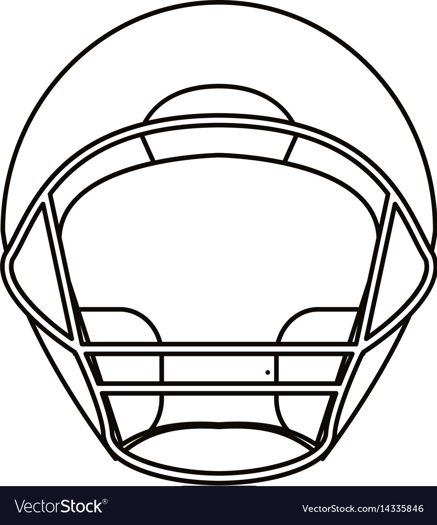 Front helmet outline clipart clip art freeuse library Helmet american football front view outline clip art freeuse library