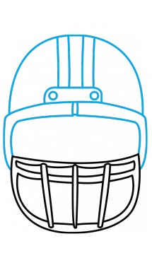 Front helmet outline clipart jpg royalty free download Collection of Football helmet clipart | Free download best Football ... jpg royalty free download