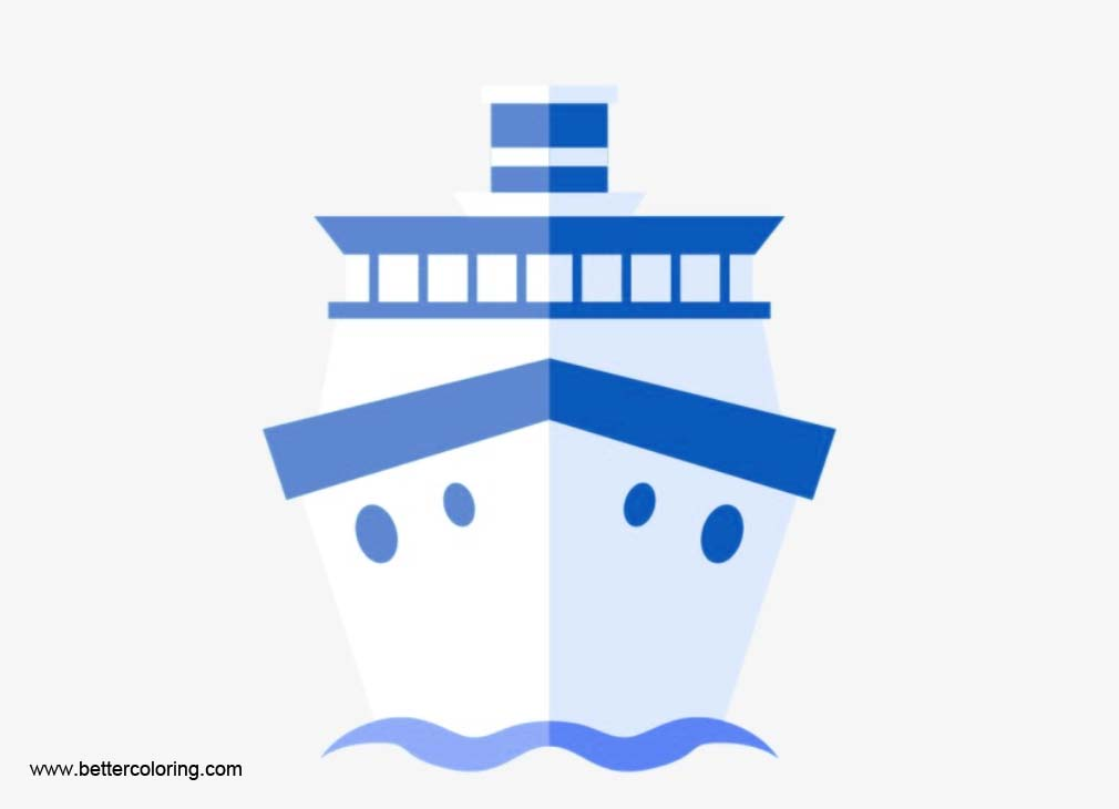 Front of ship clipart clip art royalty free stock Blue Cruise Ship Clip Art Front View - Clipart1001 - Free Cliparts clip art royalty free stock
