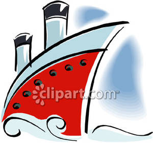 Front of ship clipart picture library The Front of a Cruise Ship Royalty Free Clipart Picture picture library