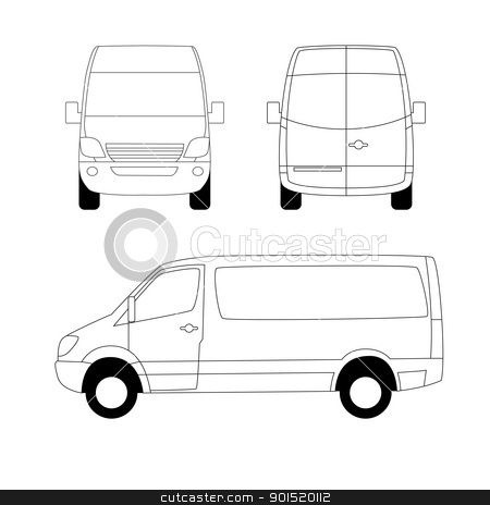 Front of van clipart clipart royalty free stock White delivery van stock vector clipart royalty free stock