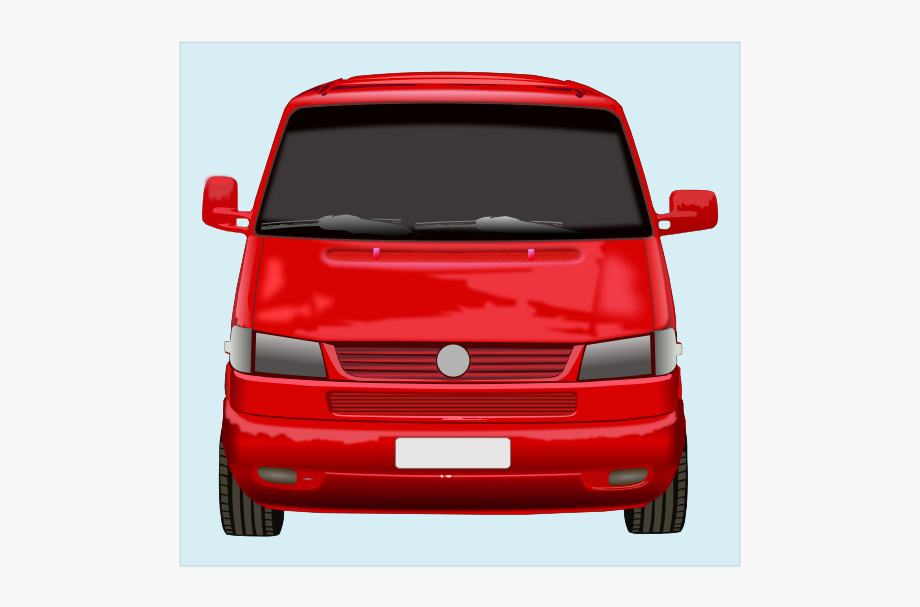 Front of van clipart vector library download Roter Vw-bus Clip Art - Red Car Front Clipart #113060 - Free ... vector library download