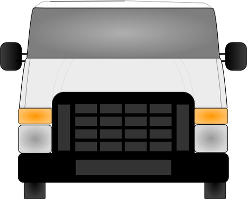 Front of van clipart image freeuse Vector illustration of front view of van | Public domain vectors image freeuse