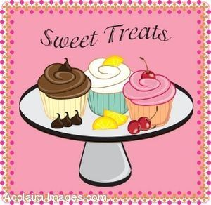 Frosting border clipart graphic Bakery art | Clip art of a frosted cupcakes on a tray with a cute ... graphic