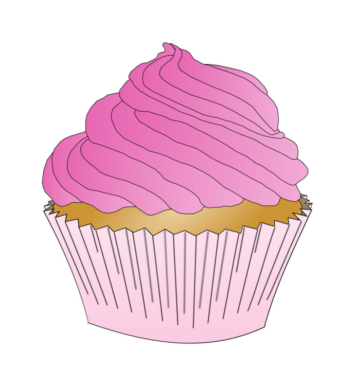 Frosting clipart clip freeuse Pink,Icing,Baking Cup Clipart - Royalty Free SVG / Transparent Clip art clip freeuse