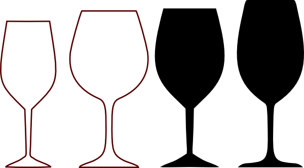 Wine glass clipart copyright free svg royalty free library wine glass clipart | Wine Glasses Silhouette clip art - vector clip ... svg royalty free library