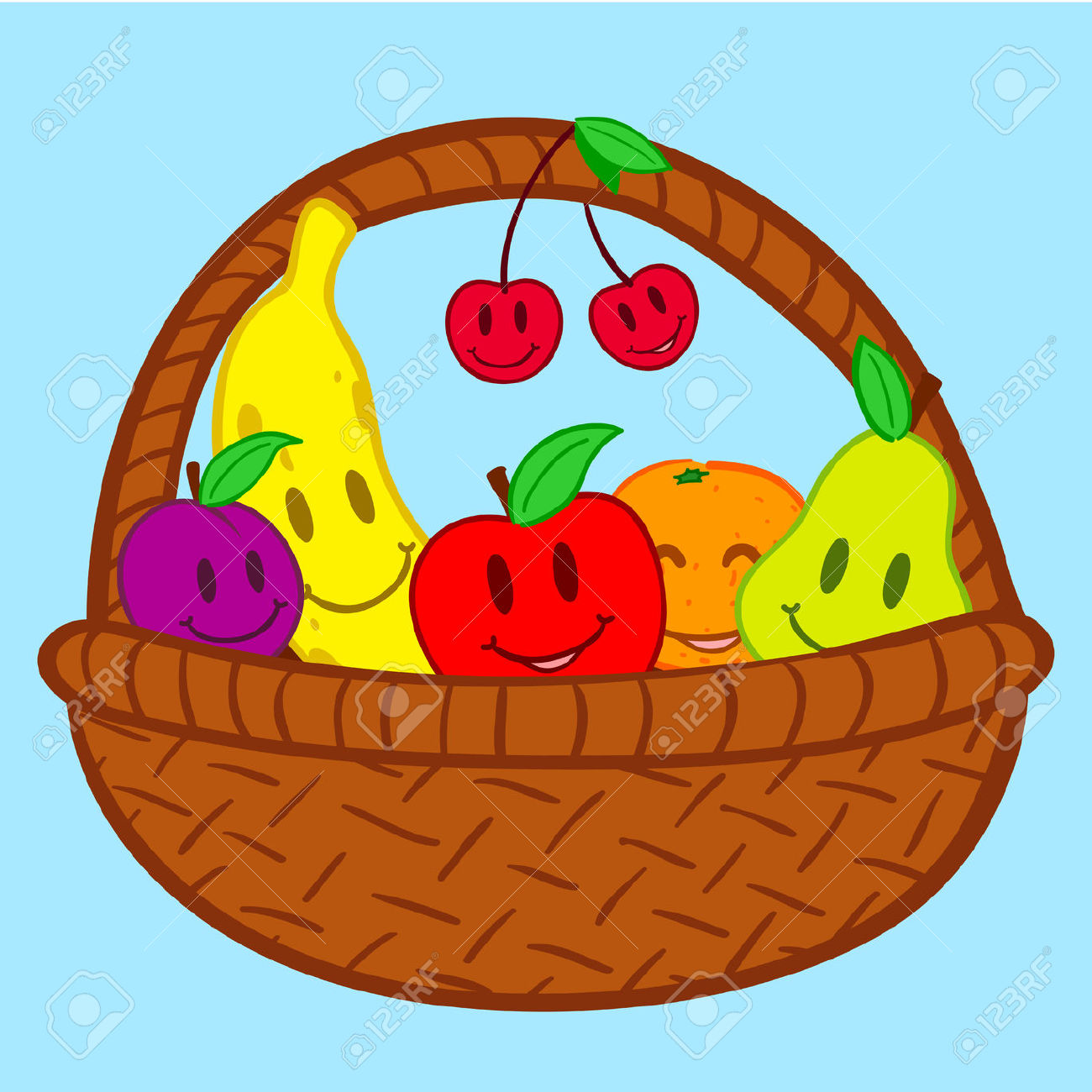 Fruitbasket clipart clip royalty free stock Fruits basket clipart 5 » Clipart Station clip royalty free stock