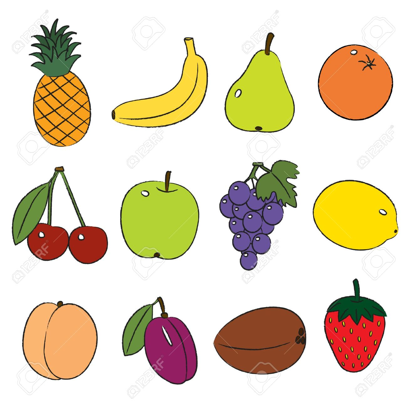 Fruit free clipart clip transparent library 45+ Fruits Clipart   ClipartLook clip transparent library