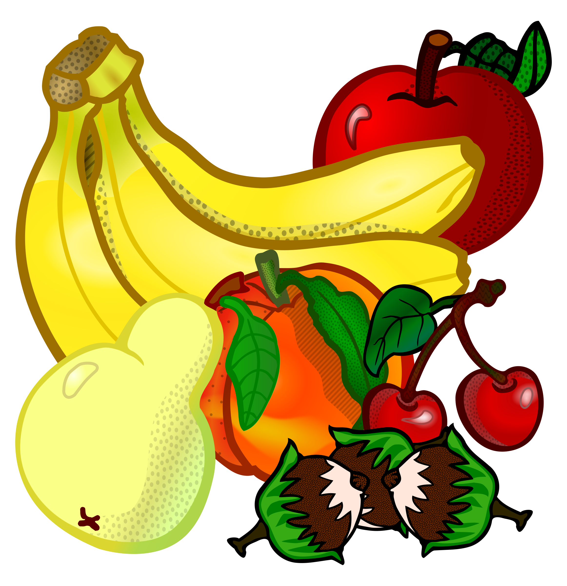 Fruit house clipart vector free fruits - coloured Icons PNG - Free PNG and Icons Downloads vector free