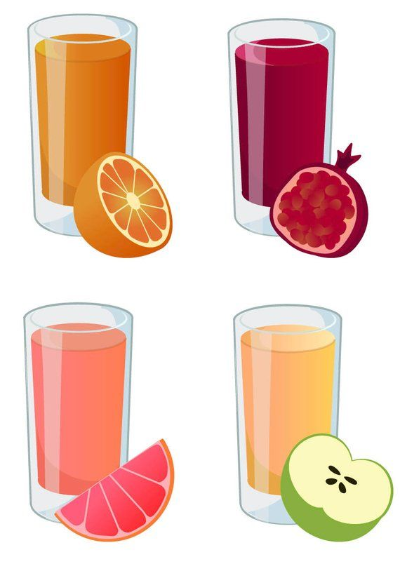 Fruit juice clipart vector black and white download JUICE CLIPART - fresh smoothie icons, printable health clipart ... vector black and white download
