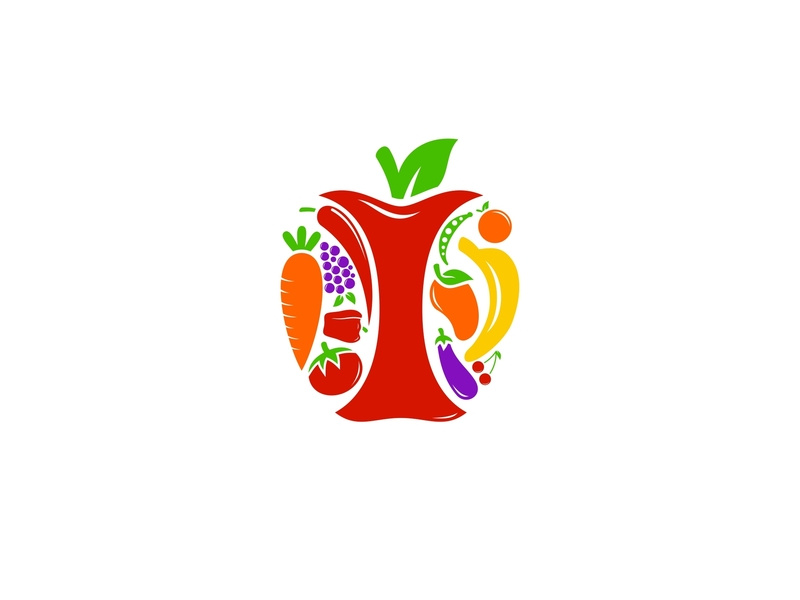 Fruit logo clipart png royalty free download Fruit Vegetable Logo by opandri on Dribbble png royalty free download