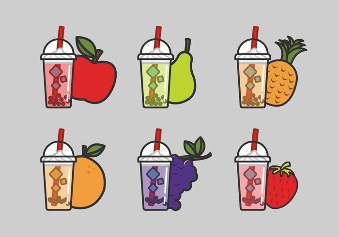 Fruit milk tea clipart vector black and white Vector Bubble Tea - Download Free Vector Art, Stock Graphics & Images vector black and white