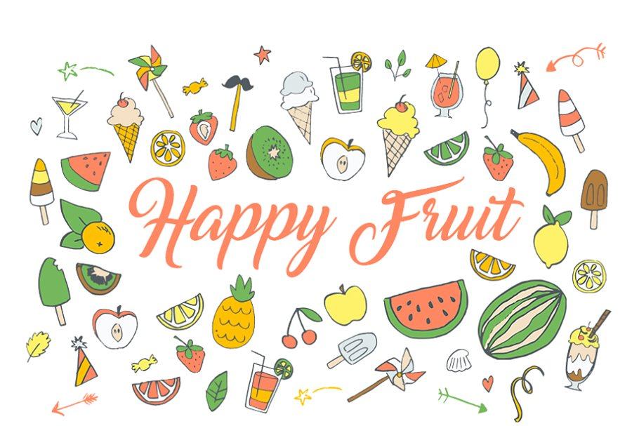 Fruit ninja clipart png freeuse stock Happy Fruit Ninja Clip art HandDrawn png freeuse stock