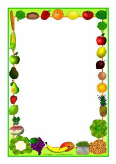 This and that clipart svg transparent download Fruit and vegetables-themed A4 page borders (SB5485) - SparkleBox ... svg transparent download