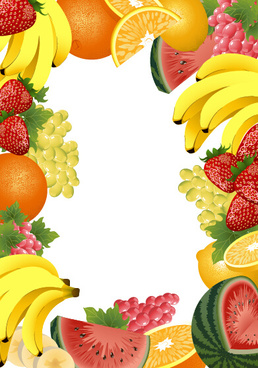 Fruit page border vector clipart graphic transparent download Vector fruit frame free vector download (8,425 Free vector) for ... graphic transparent download