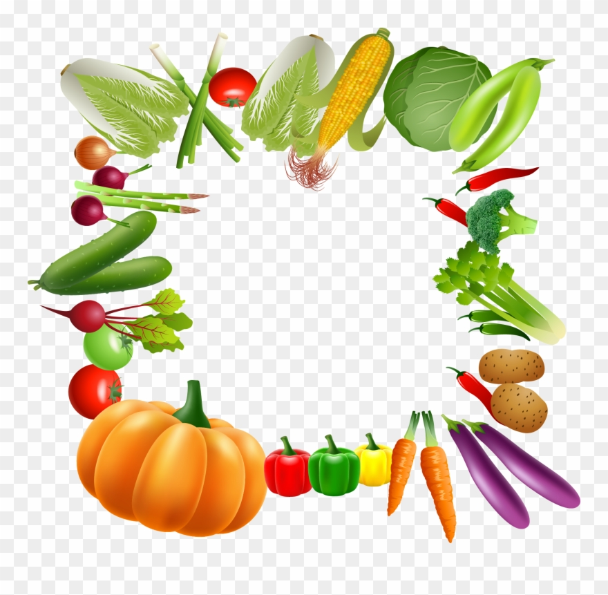 Fruit page border vector clipart picture freeuse library Clip Art Library Vegetable Border Clipart - Fruit And Vegetables ... picture freeuse library