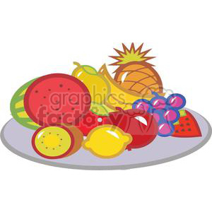 Fruit plate clipart free Plate Of Fruits clipart. Royalty-free clipart # 379379 free