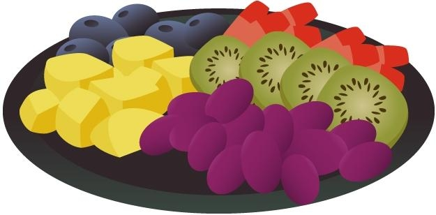 Fruit plate clipart jpg transparent library Free Vegetable Plate Cliparts, Download Free Clip Art, Free Clip Art ... jpg transparent library
