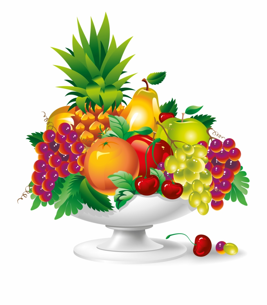 Fruit plate clipart vector royalty free library Fruit Plate Vector Art Png - Fruit Vector Free PNG Images & Clipart ... vector royalty free library