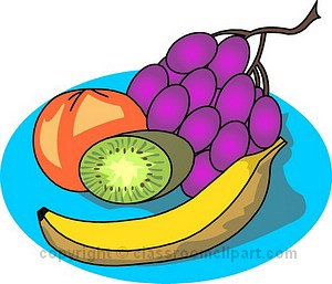 Fruit plate clipart graphic free library Snack fruit plate clipart free clipart images image #23722 graphic free library