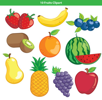 Fruits images clipart vector freeuse library 10 Fruits Clipart vector freeuse library