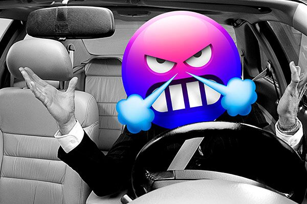 Frustrated in a car sit kid clipart image royalty free download How To Avoid Road Rage | GEICO image royalty free download