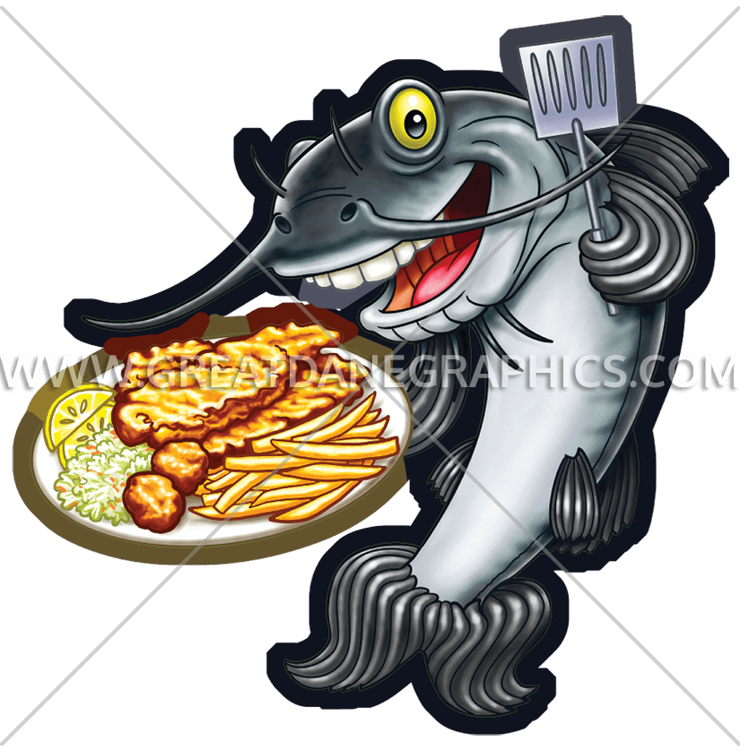 Frying fish clipart image library download Fish Fry Catfish | Production Ready Artwork for T-Shirt Printing image library download