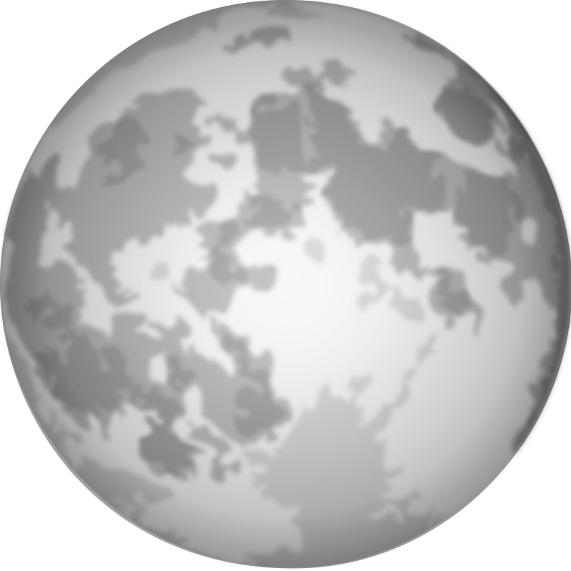 Full moon free clipart clip black and white download Free Clipart: Halloween Bright Full Moon | cgbug clip black and white download