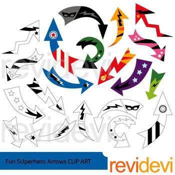 Fun arrow clipart clip freeuse stock Arrows clip art: Fun Superhero Arrows clipart | Clipart 2016 by ... clip freeuse stock