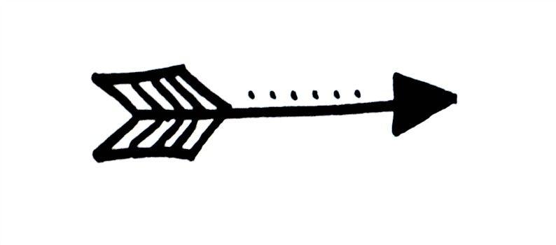 Fun arrow clipart vector freeuse download Basic Hand Lettering: Arrow Embellishment | Write Something! | Hand ... vector freeuse download