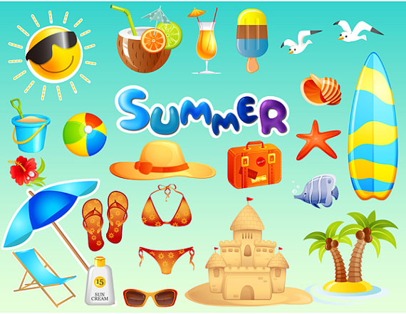 Fun summer clipart graphic stock Free Summer Beach Cliparts, Download Free Clip Art, Free Clip Art on ... graphic stock