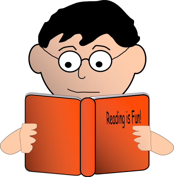 Student reading a book clipart jpg royalty free stock Reading Is Fun Clip Art at Clker.com - vector clip art online ... jpg royalty free stock